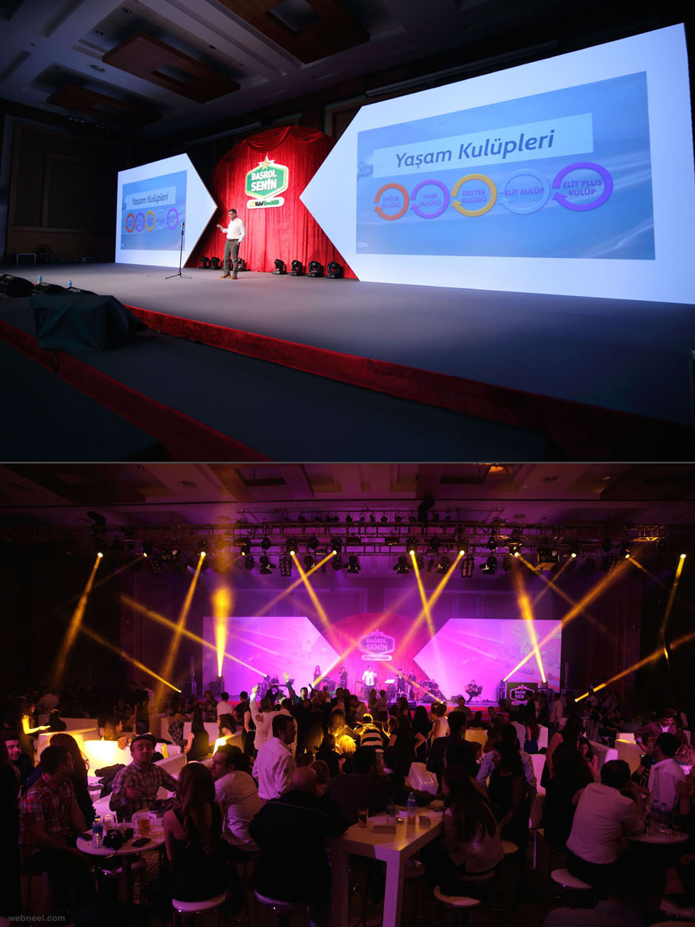corporate event stage design by phantom