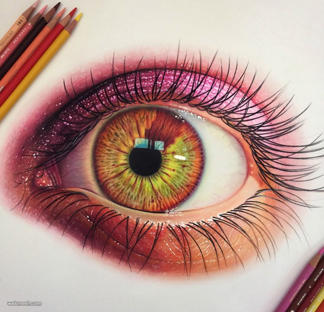 eye color pencil drawing eye color pencil drawing - Color Drawings