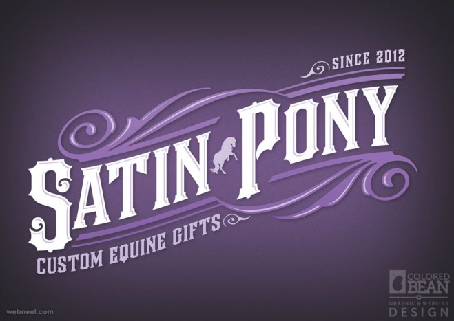 typography design satin pony