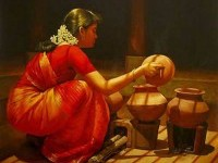 9-realistic-tamil-woman-painting-by-ilayaraja