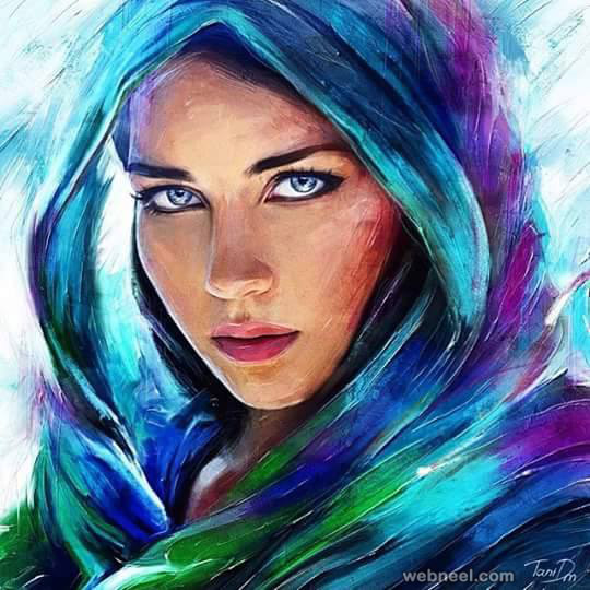 colorful woman painting by tanidm