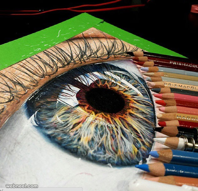 eyes color pencil drawing by kaylee