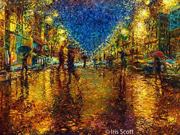 street painting by iris scott