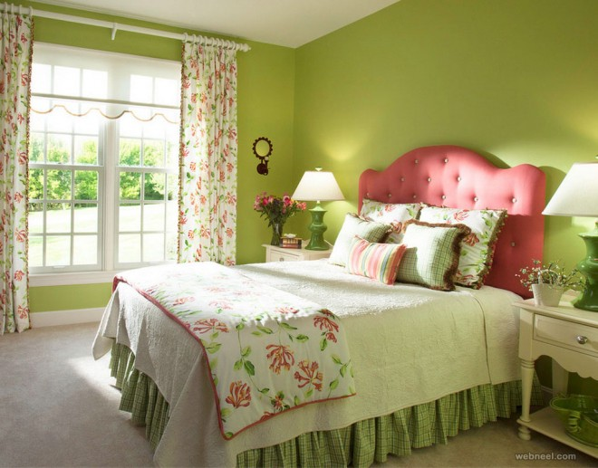 50 beautiful wall painting ideas and designs for living for Pretty bedroom colors