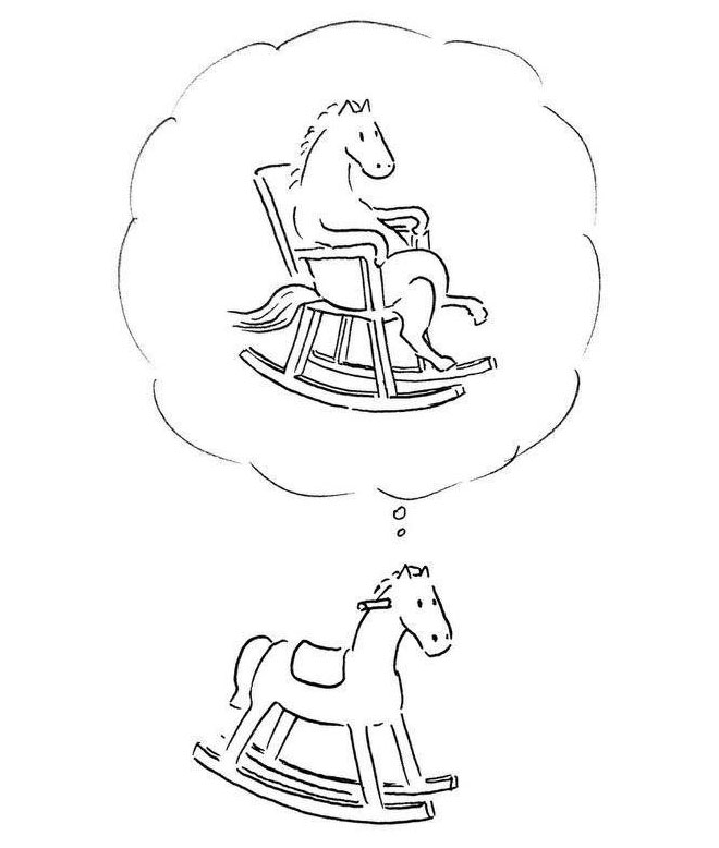 rockinghorse funny drawings