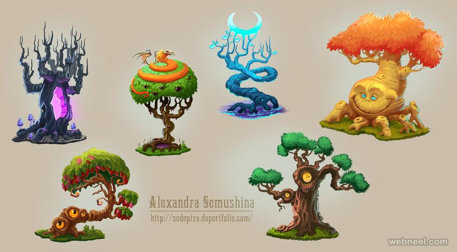 tree drawing ideas