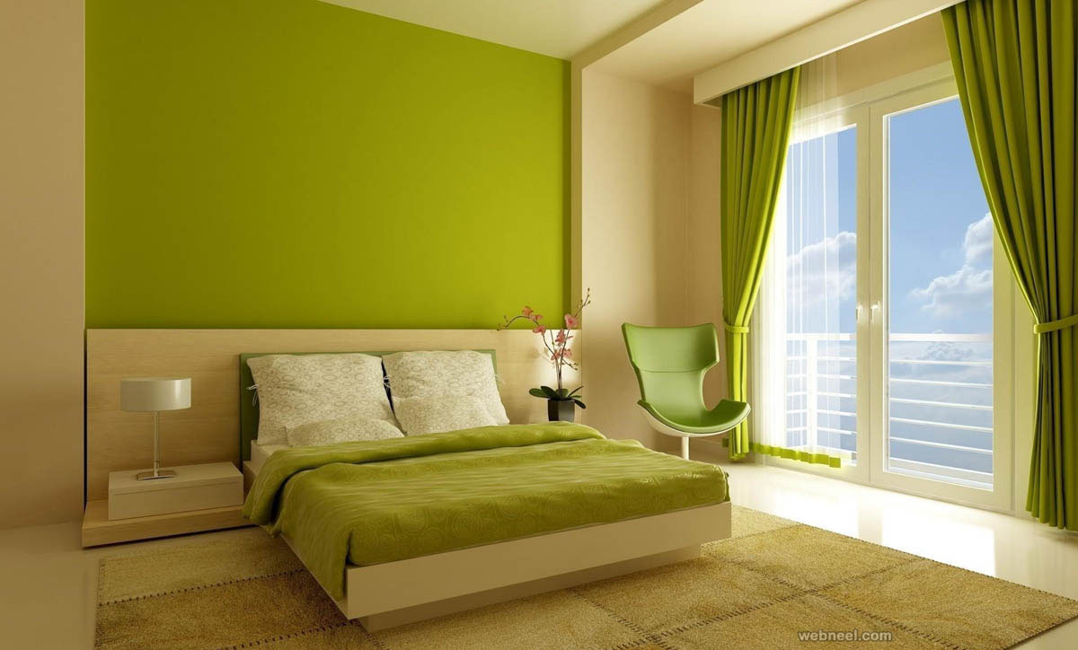 Leaf green bedroom color ideas 2 for Best type of paint for bedroom