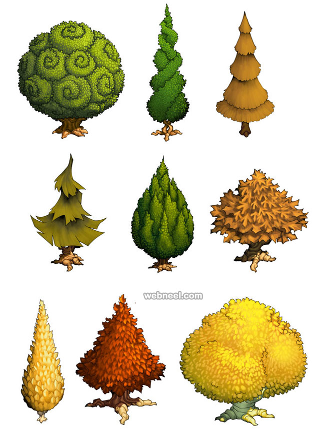 tree drawing ideas