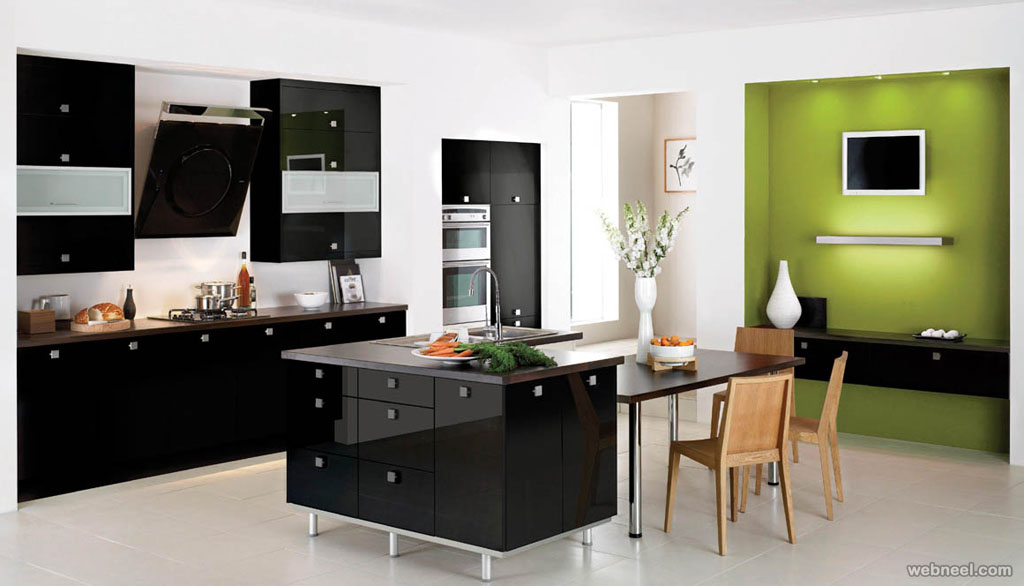 black white kitchen colour ideas