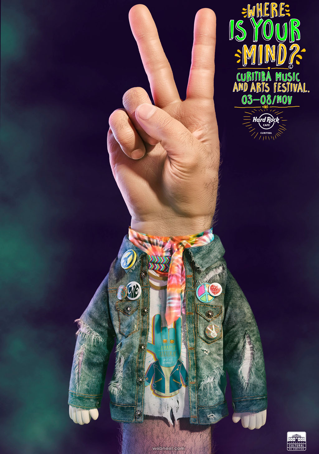 curitiba music arts festival print advertisement by felippe motta