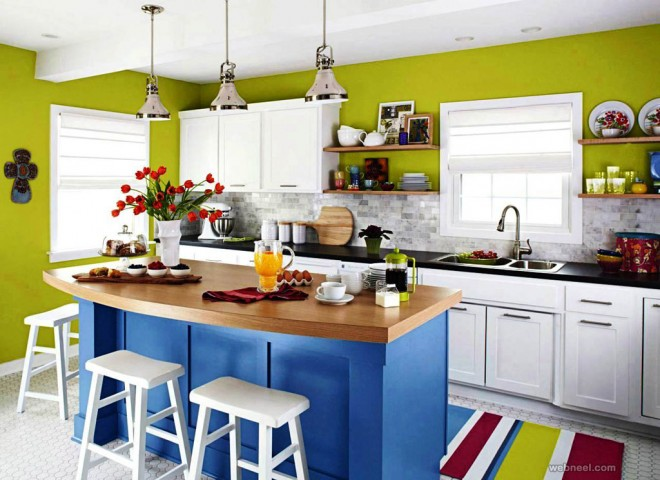 green blue kitchen coloring ideas