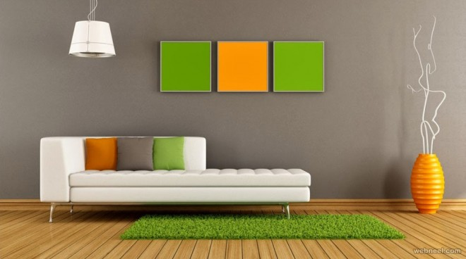 50 beautiful wall painting ideas and designs for living for Interior colour designs