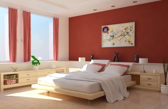 Red bedroom color ideas red bedroom color ideas. 50 Beautiful Wall Painting Ideas and Designs for Living room