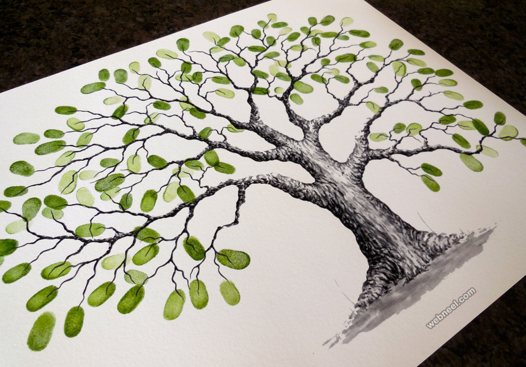 30 Beautiful Tree Drawings And Creative Art Ideas From Top