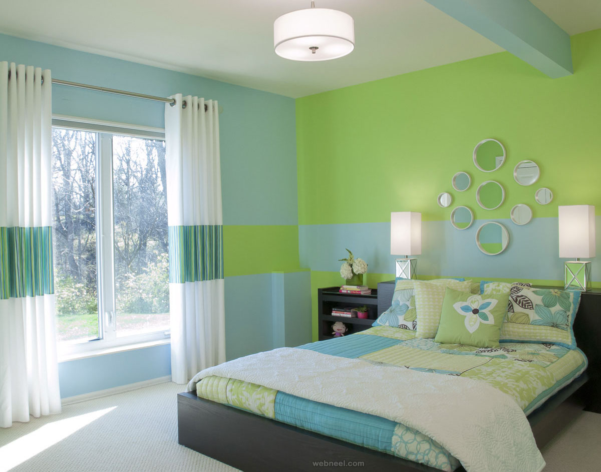 Lovely Green Blue Bedroom Colour Ideas Green Blue Bedroom Colour Ideas