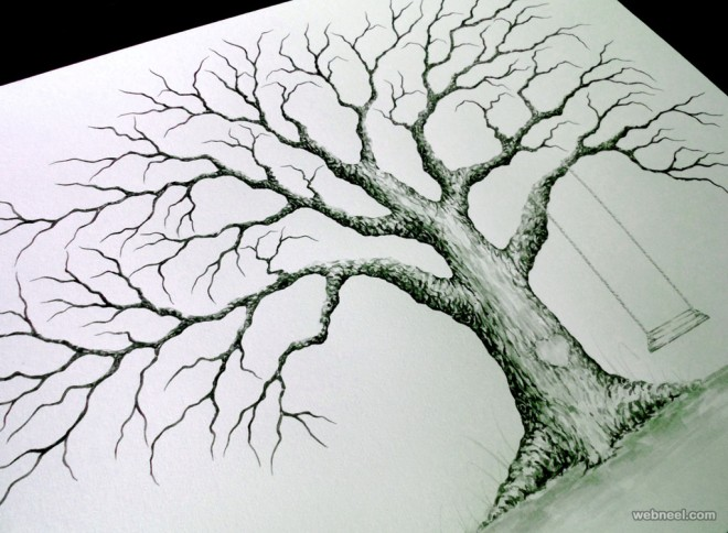 tree drawing by lastingkeepsakes