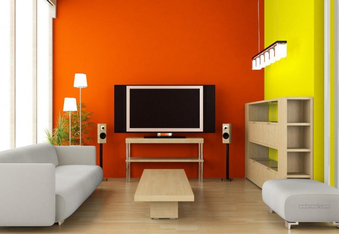 Orange living room color ideas orange living room color ideas50 Beautiful Wall Painting Ideas and Designs for Living room  . Wall Colour Design For Living Room. Home Design Ideas
