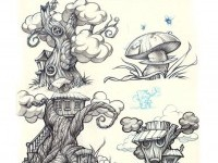 7-tree-drawings-by-rigo-velez