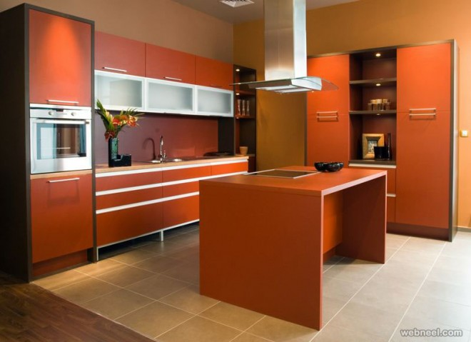 orange paint colors for kitchen