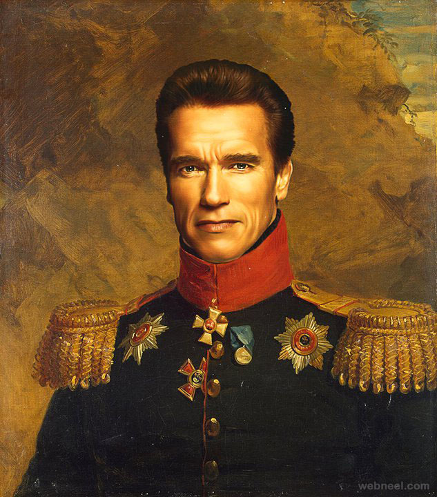 arnold digital painting military portraits by steve payne