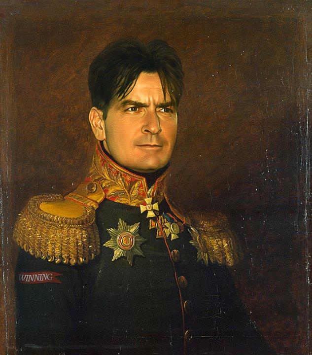 charlie sheen digital painting