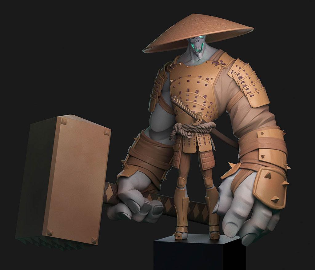 digital art illustration ghost samurai