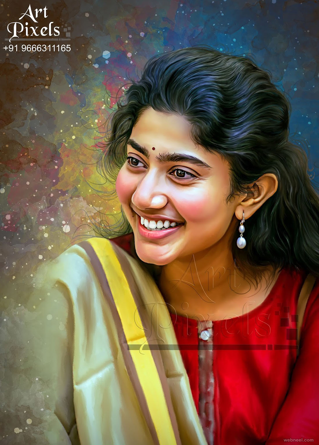 actress sai pallavi digital painting