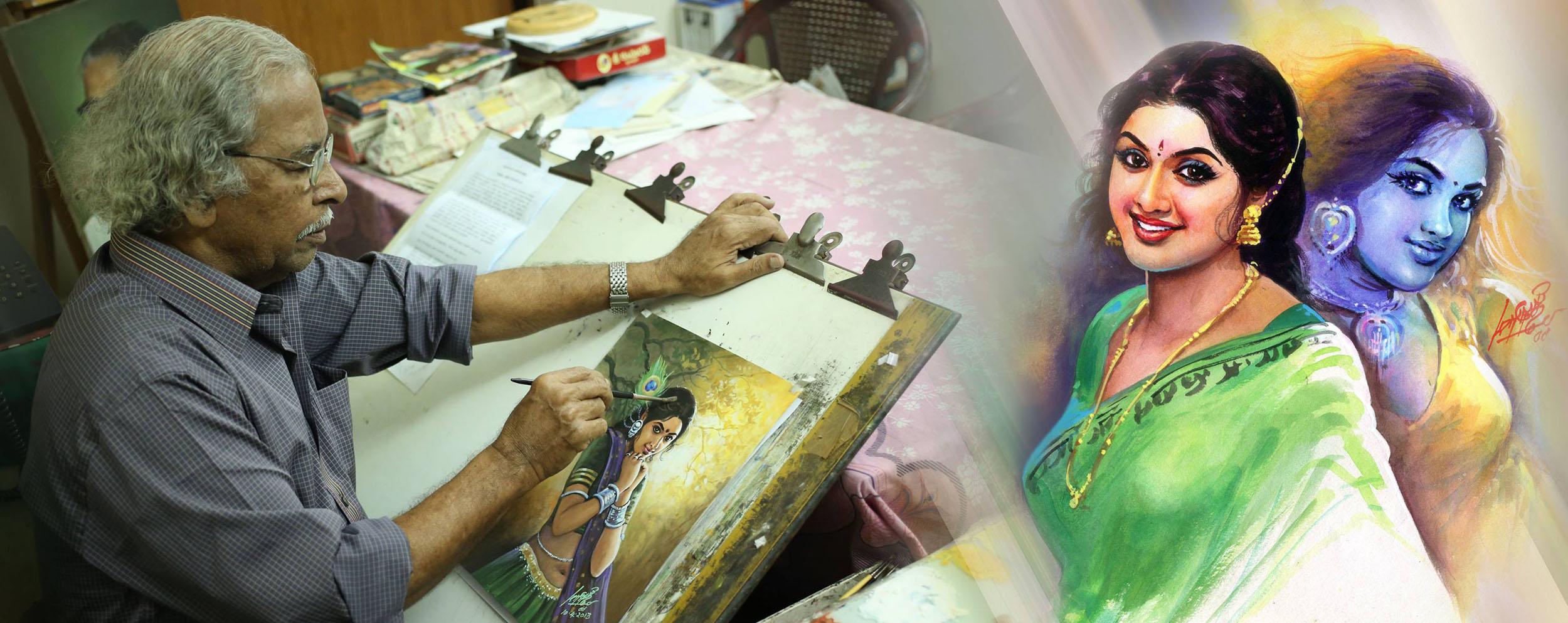 painting tamil nadu artist maruthi
