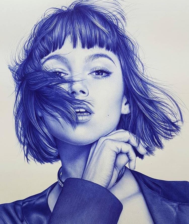 pen drawing by eva garrido