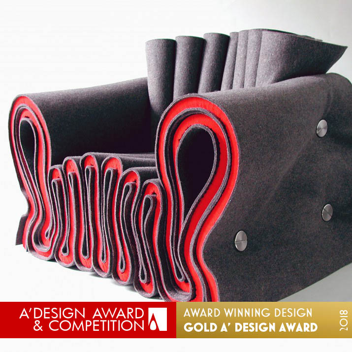 joseph felt chair seating award winning design by lothar windels
