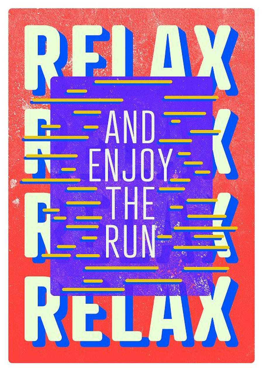 relax typography design by displate