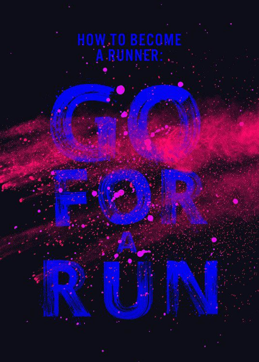 run typography design by displate