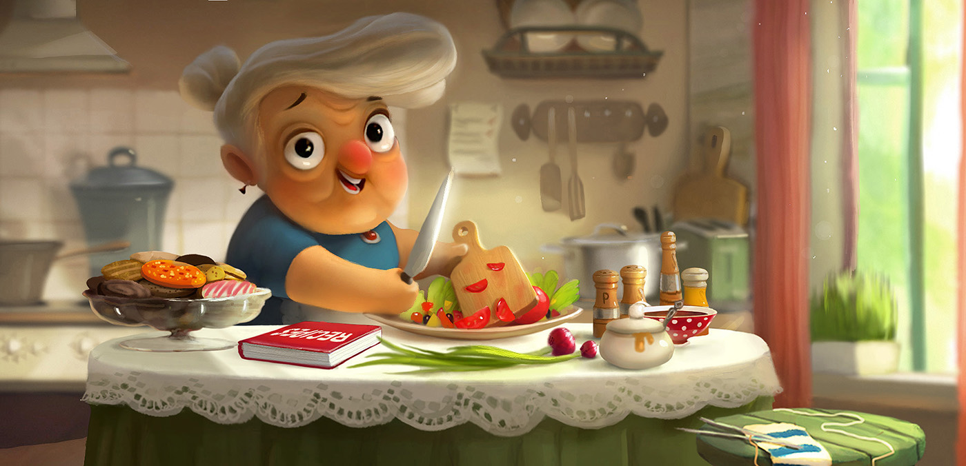 digital art character illustration cooking
