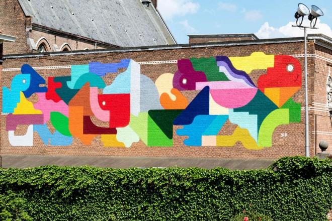 kaleidoscope street art festival by oli