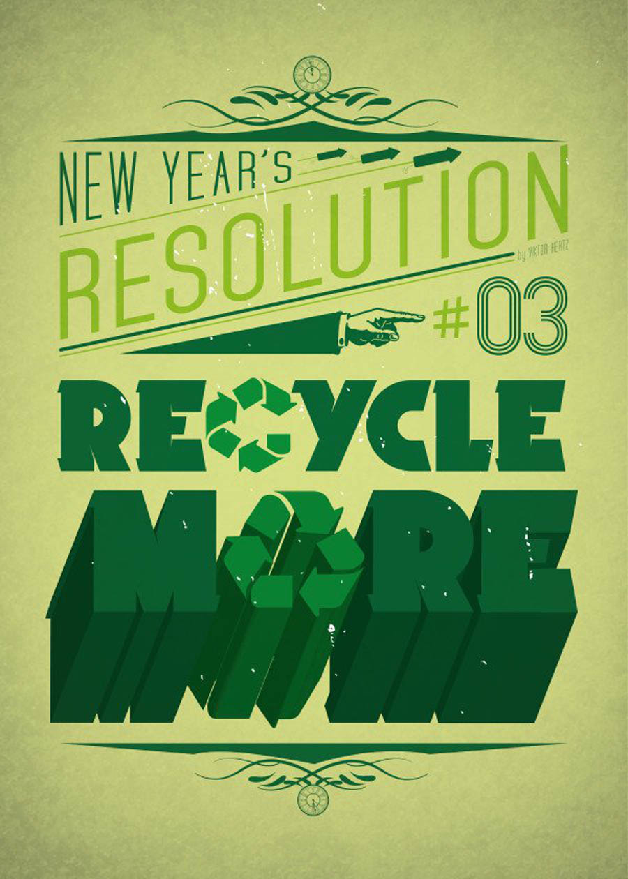recycle amazing typography design by displate