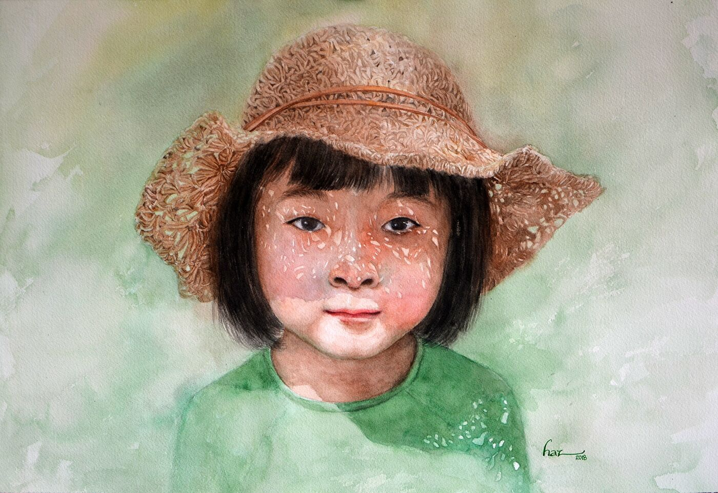 portrait watercolor paintings by hajazana