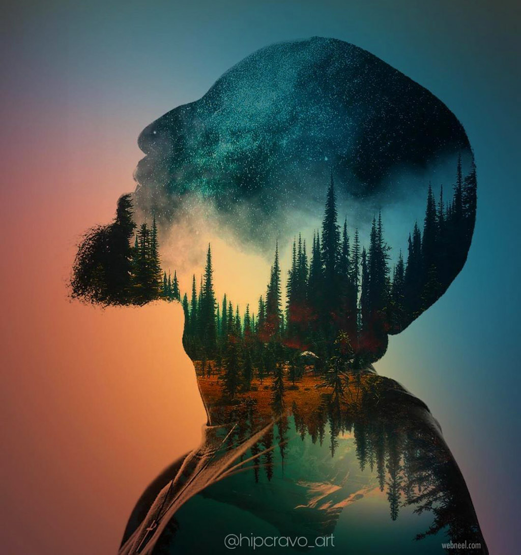 double exposure photo manipulation by hipcravo art