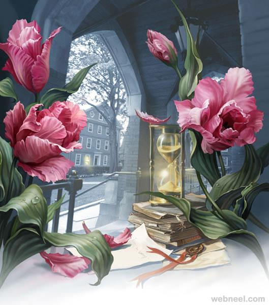 rose digital art by geliografic