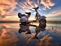 11-scooter-water-reflection-photography-by-sarawut
