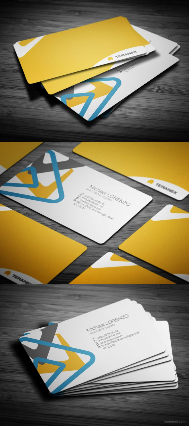 25 creative corporate business card design examples