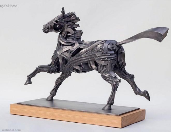 22 creative human figure metal sculptures composed of