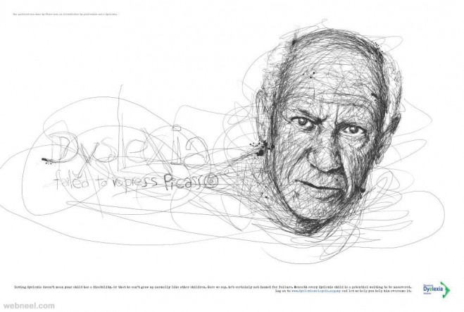 Scribble Drawing Celebrity Portrait By Vince Low : Awesome celebrity portraits made of scribbles by vince low