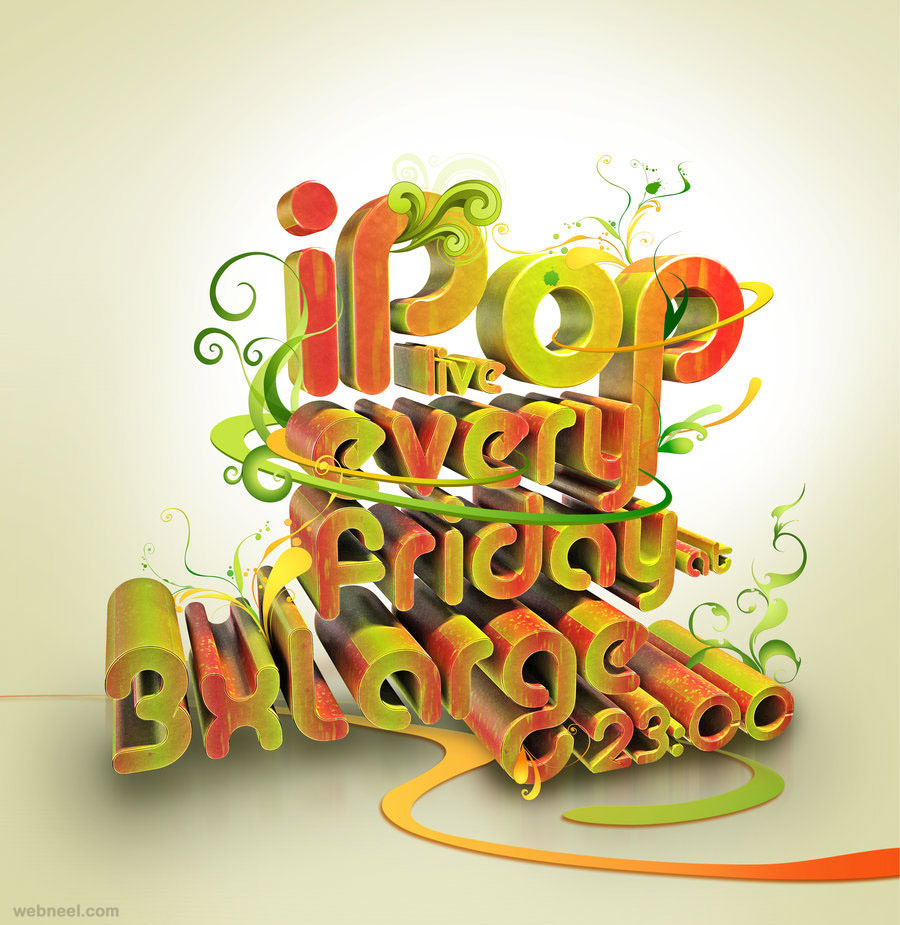 3d best typography design taylanezer 19