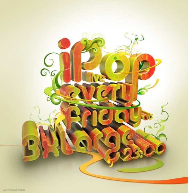 3d best typography design taylanezer