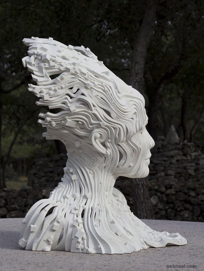 woman monumental scultpure by gil bruvel