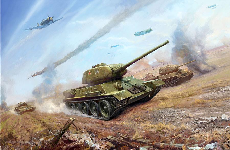 military art work by geliografic studio