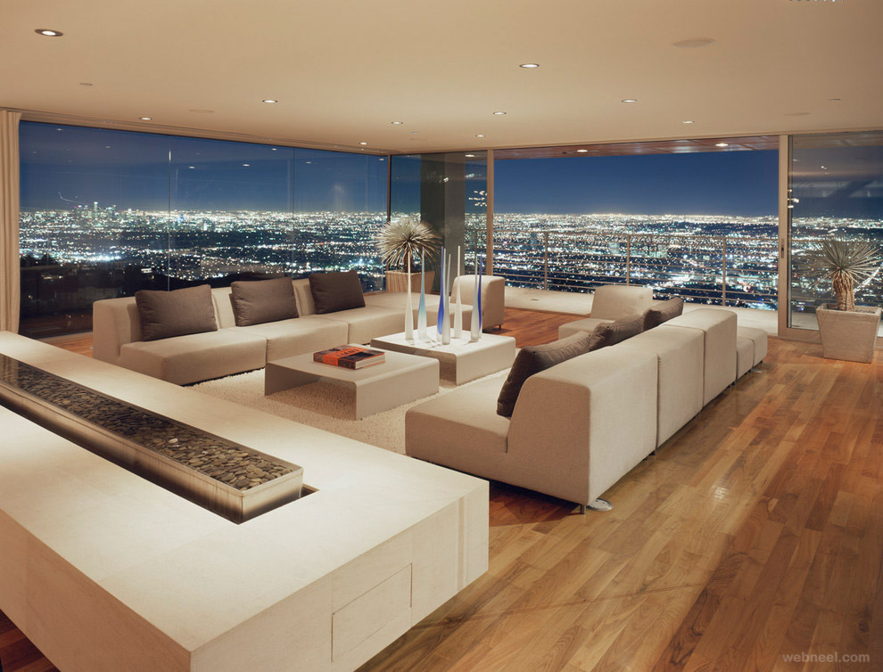 Modern living room los angeles best interior design 2 for 2 living room design