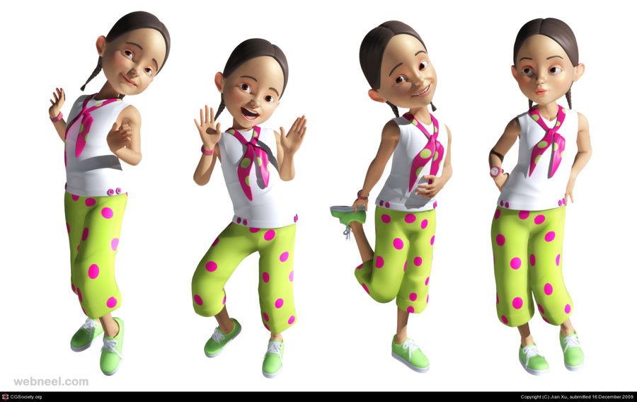 3d cartoon jian