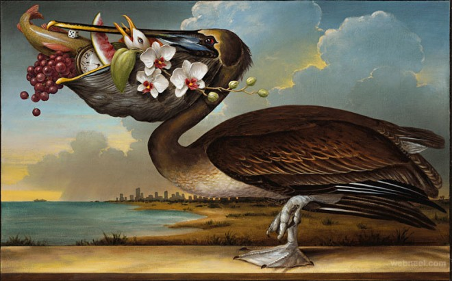 birds of america surreal painting