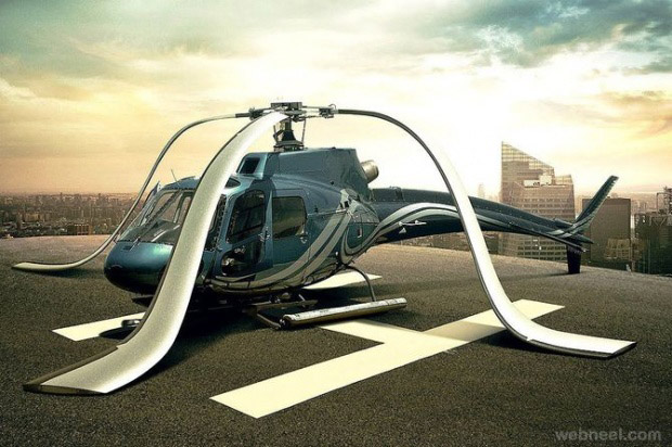 helicopter photo manipulation